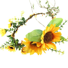 Load image into Gallery viewer, Terrific Happy Sunflower Wreath