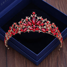 Load image into Gallery viewer, Remarkable Red Rhinestone Tiara