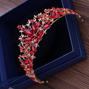 Remarkable Red Rhinestone Tiara