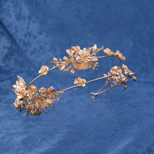 Captivating Gold Flower Tiara