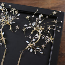 Load image into Gallery viewer, Radiant Floral Earring Headdress
