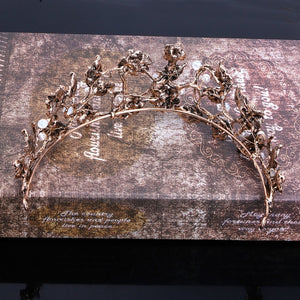 Vintage Floral Pageant Crown