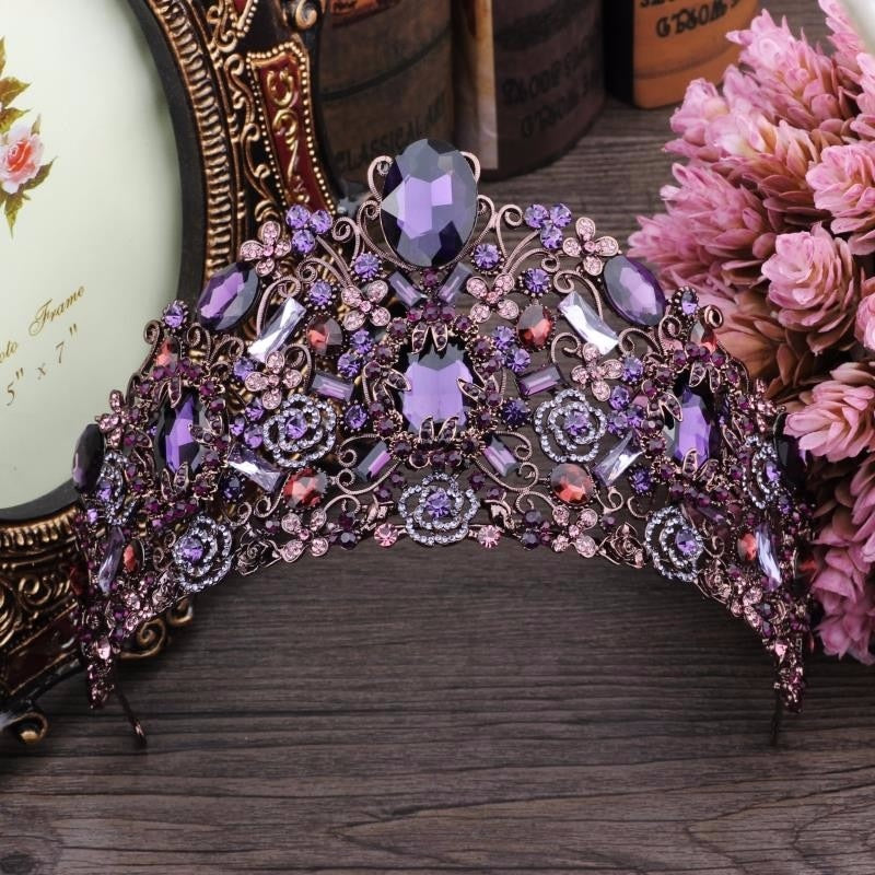 Phenomenal Luxury Purple Tiara