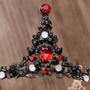 Show Stopping Red Crystal Crown