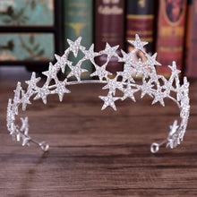 Load image into Gallery viewer, Dazzling Silver Star Headband