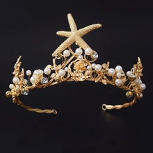 Load image into Gallery viewer, Carefree Mermaid Starfish Crown