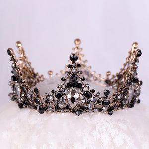 Iconic Black Crystal Crown