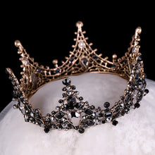 Load image into Gallery viewer, Iconic Black Crystal Crown