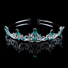 Load image into Gallery viewer, Lionhearted Lustrous Teal Tiara