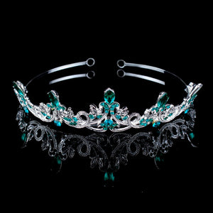 Lionhearted Lustrous Teal Tiara