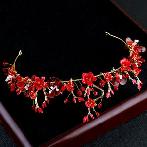 Red Magic Flower Tiara
