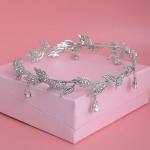 Just Pixie Waterdrop Tiara in Silver