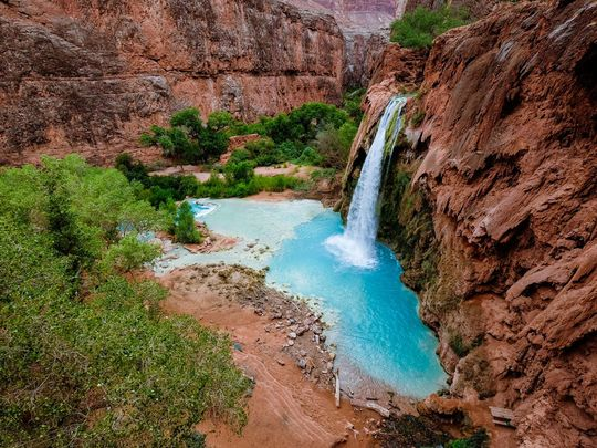 Head West, to Beautiful Havasupai Falls.  But Plan Way Ahead!