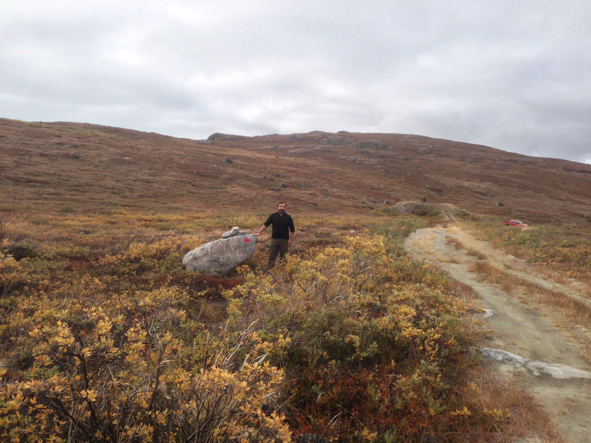Beginning of the Arctic Circle Trail, Greenland near Kellyville, Greenland