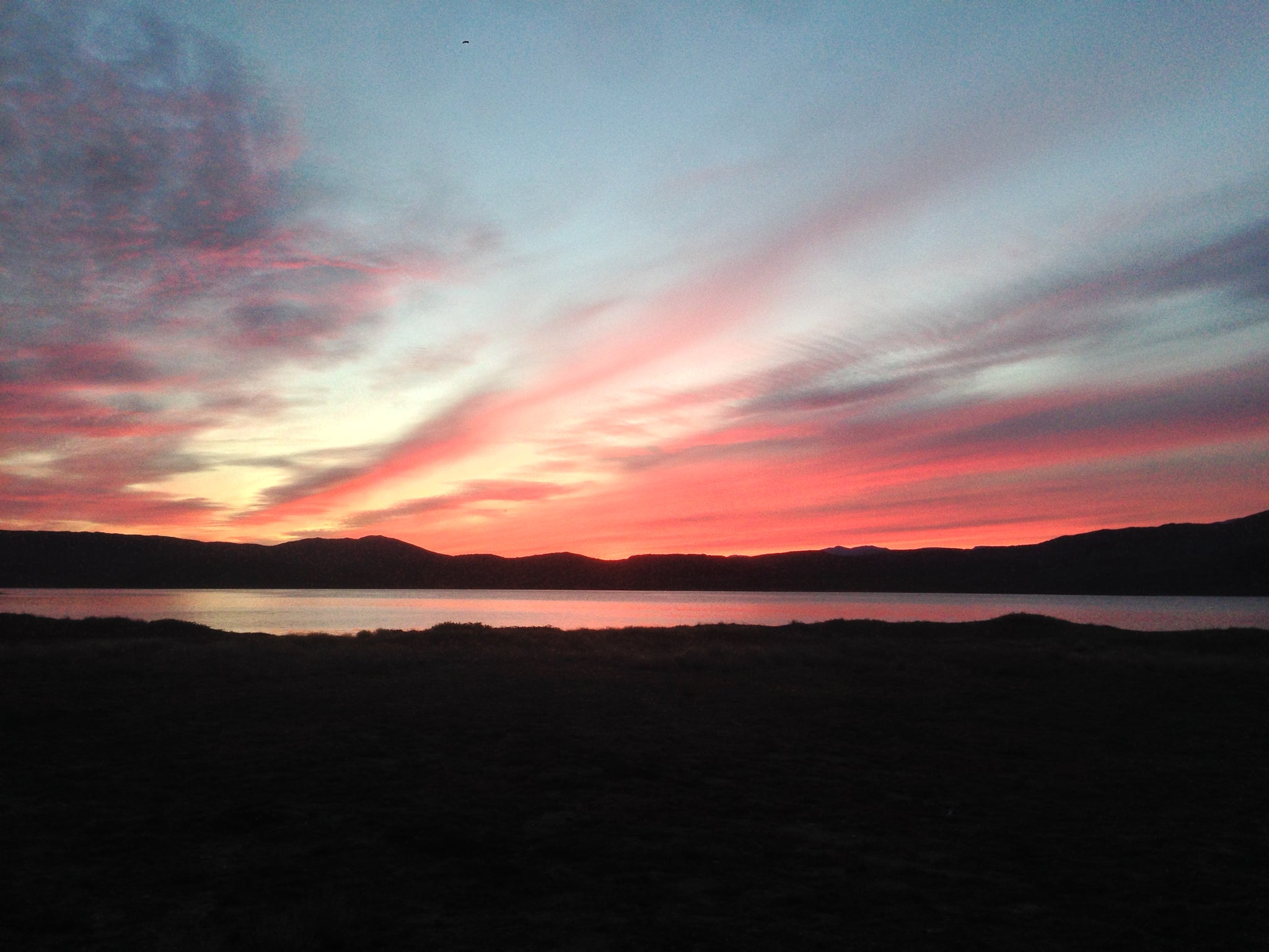 Sunset at Canoe Center Hut, Arctic Circle Trail, Greenland