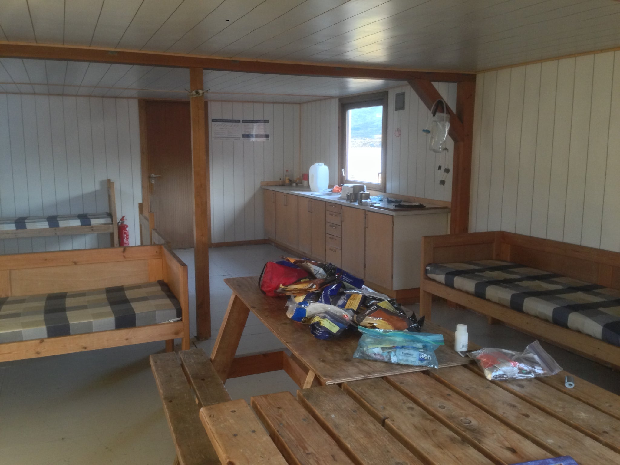 Inside the Canoe Center Hut, Arctic Circle Trail, Greenland