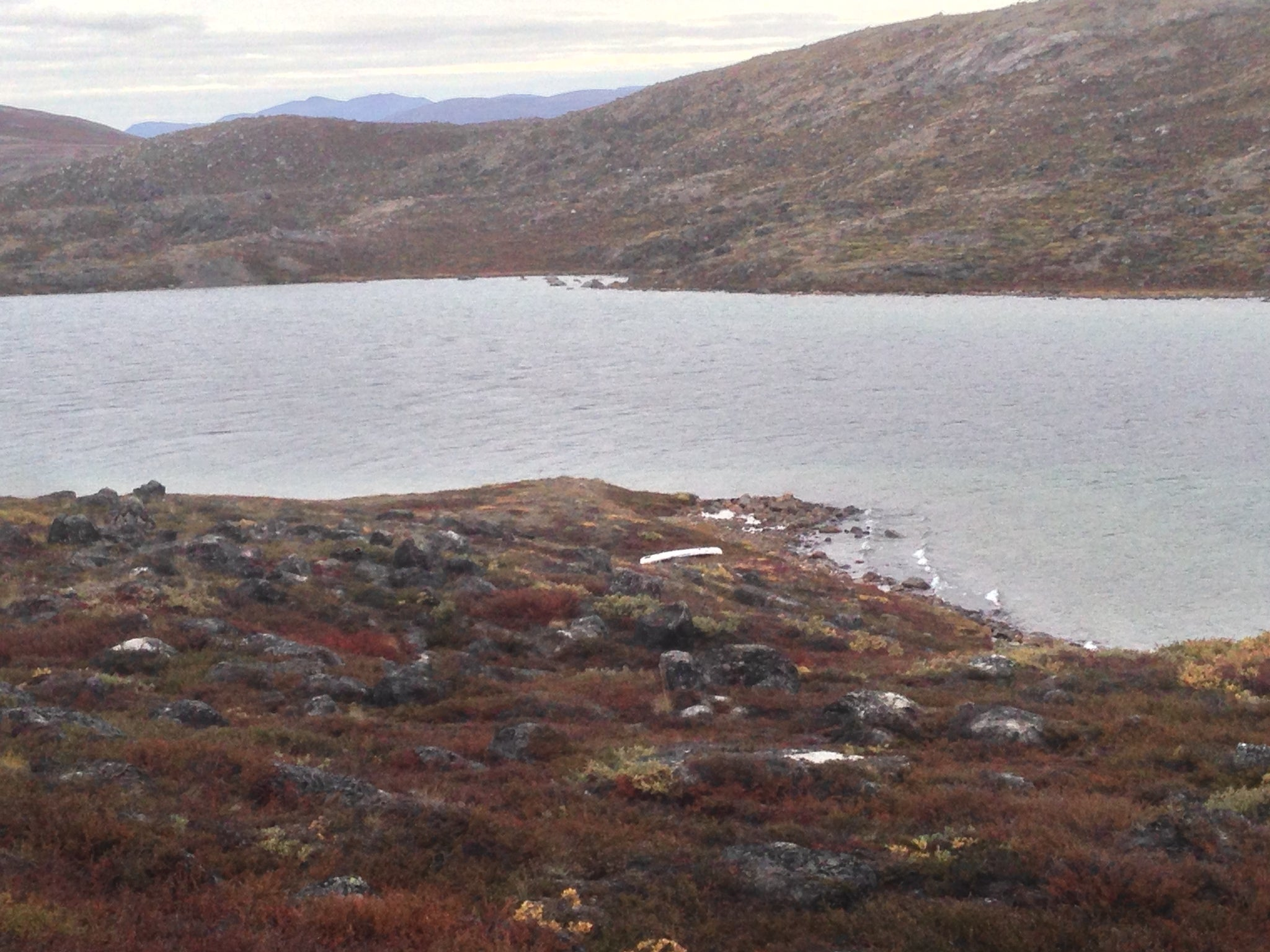 Canoe from Canoe Center Hut, Arctic Circle Trail, Greenland