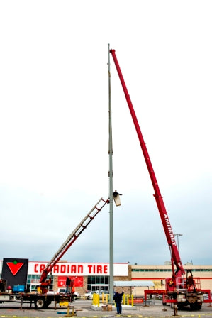 Installing a 100' Flagpole