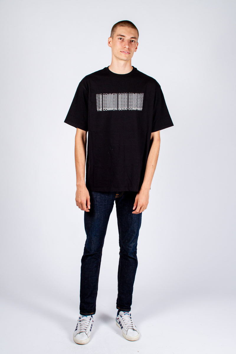 DEAN JAMES BLACK T-SHIRT - REPEAT OFFADER
