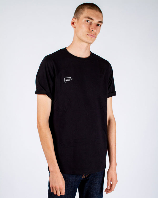 JOHN CITIZEN T-SHIRT - BLACK - FOR THE COMMON GOOD