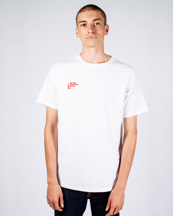 JOHN CITIZEN T-SHIRT - WHITE - FOR THE COMMON GOOD