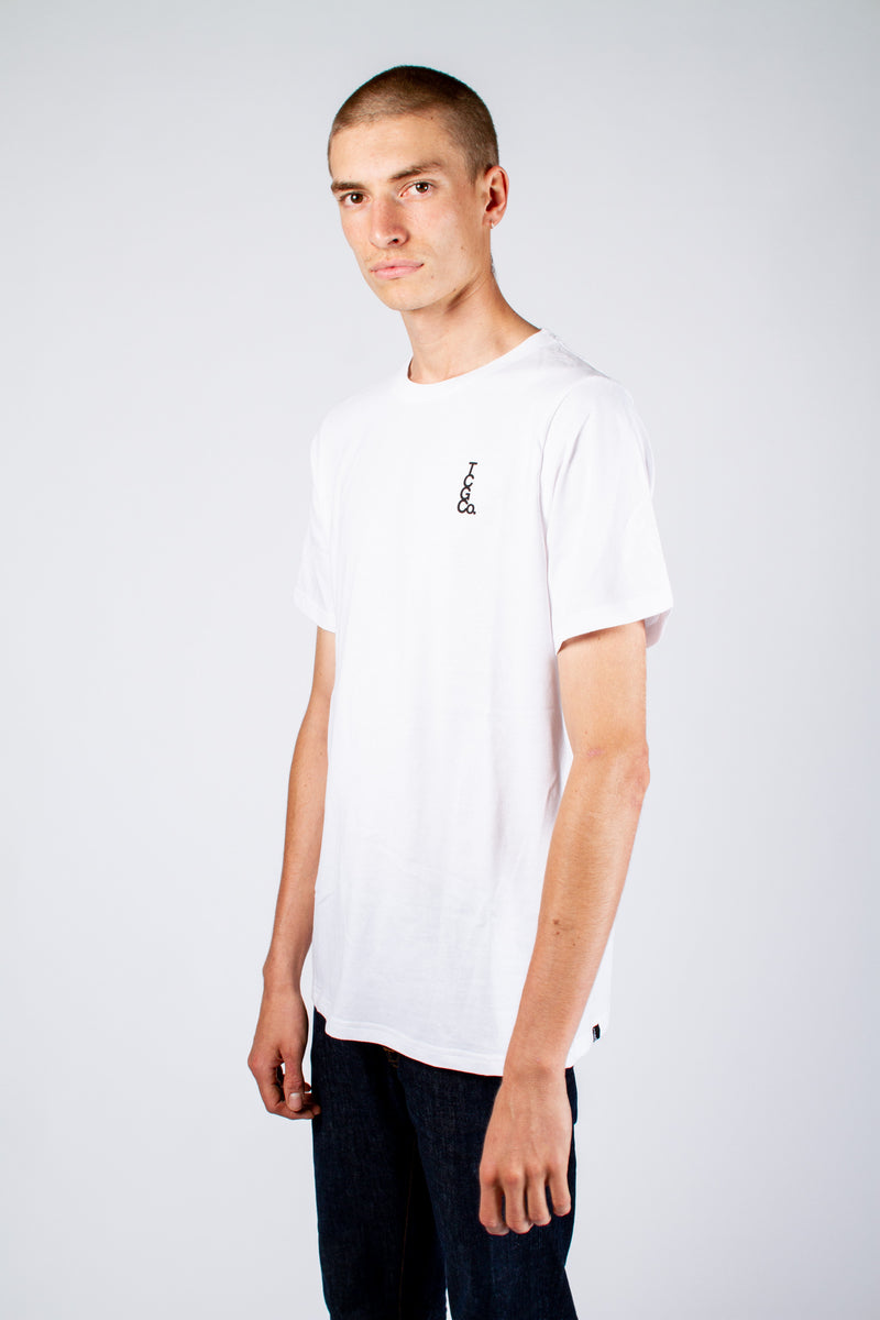 JOHN CITIZEN T-SHIRT - WHITE MONOGRAM