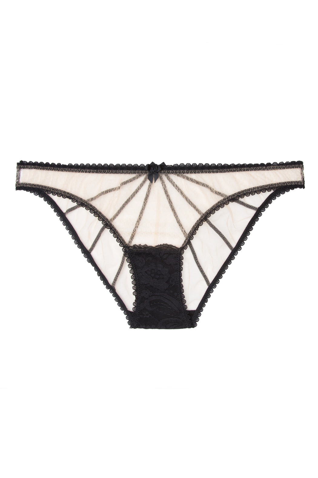 Nude Star knicker by Mimi Holliday black lace workingirls lingerie