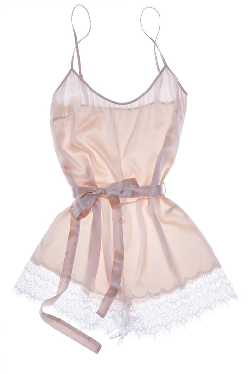 Mimi Holliday white lace and silk bisou frost teddy workingirls lingerie