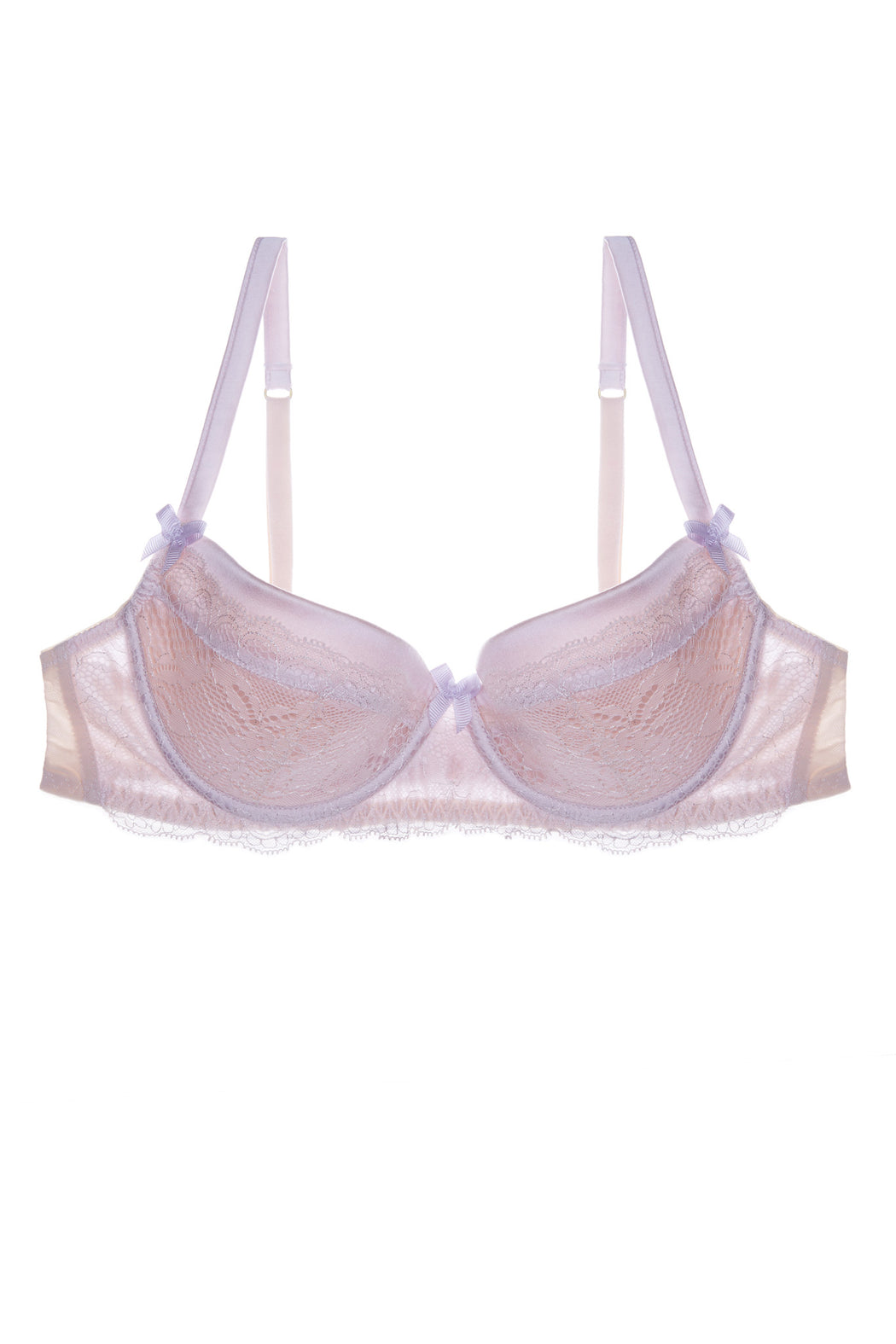 Sugar Pie silk and lace balcony bra by Mimi Holliday workingirls lingerie