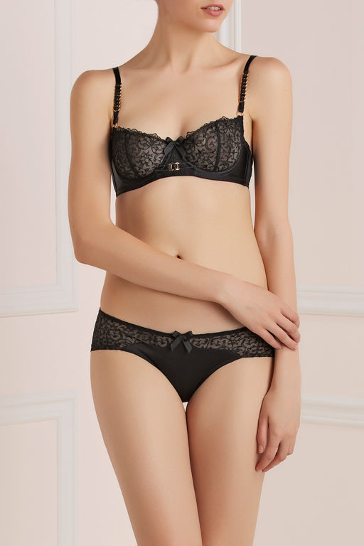 Workingirls Lingerie | Thorn Lace & Gold Bra by Bordelle