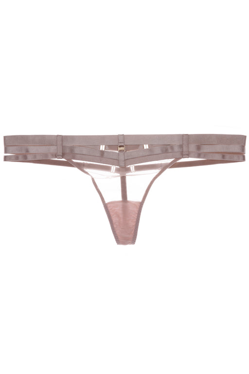 Art Deco Multi-Strap Caramel Thong by Bordelle