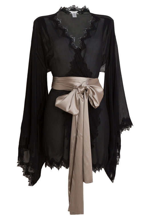 Black silk Kimono by Lucile workingirls lingerie