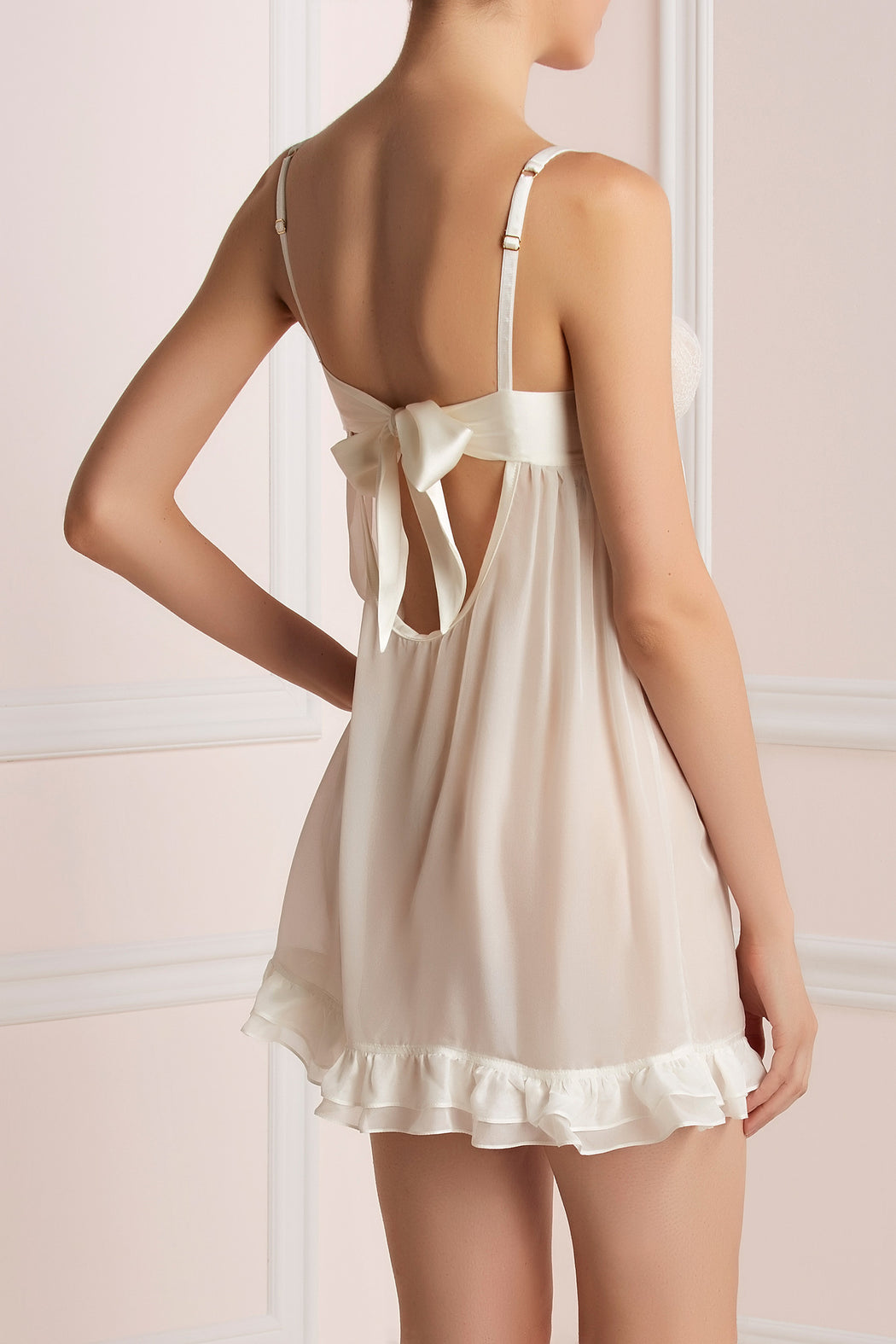 Ivory silk and lace babydoll by Lucile workingirls lingerie