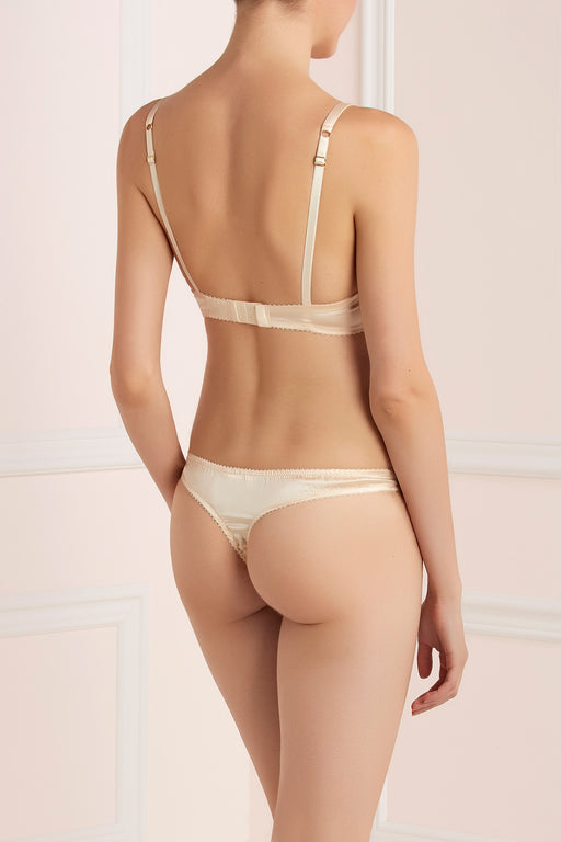 Lucile 11 rue de Penthievre silk bra and thong Workingirls luxury gold bridal lingerie