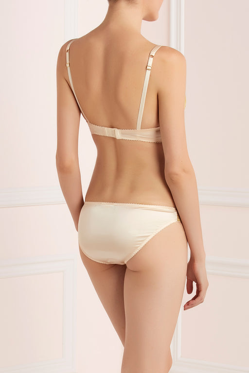 Lucile 11 rue de Penthievre bra and brief Workingirls luxury Gold bridal lingerie