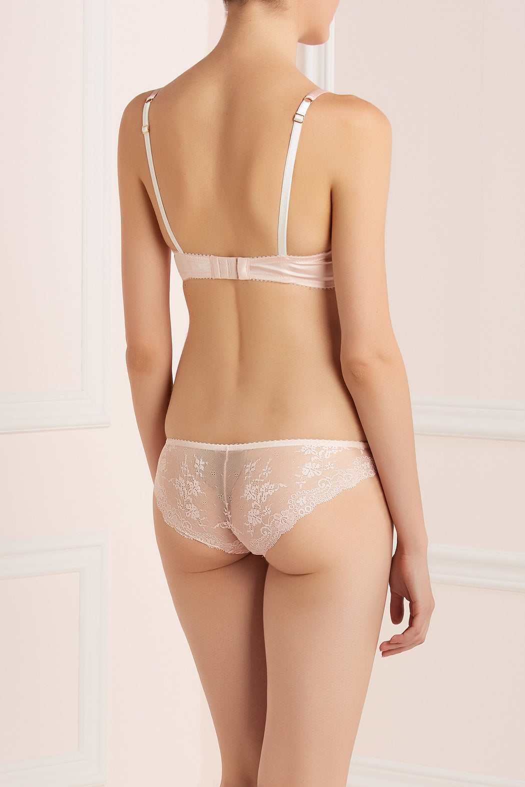 Silk and Lace Tea Rose Lace back knicker by Lucile workingirls lingerie