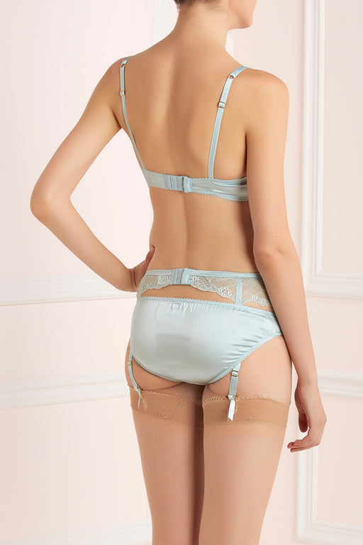 Rosetti Gardens silk and lace blue knicker by Lucile workingirls lingerie