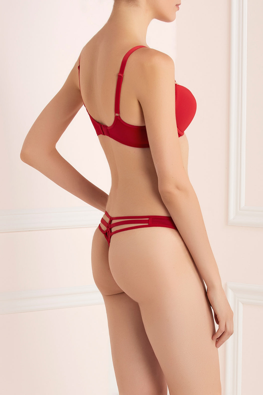 Space odyssey red thong by Marlies Dekkers workingirls lingerie