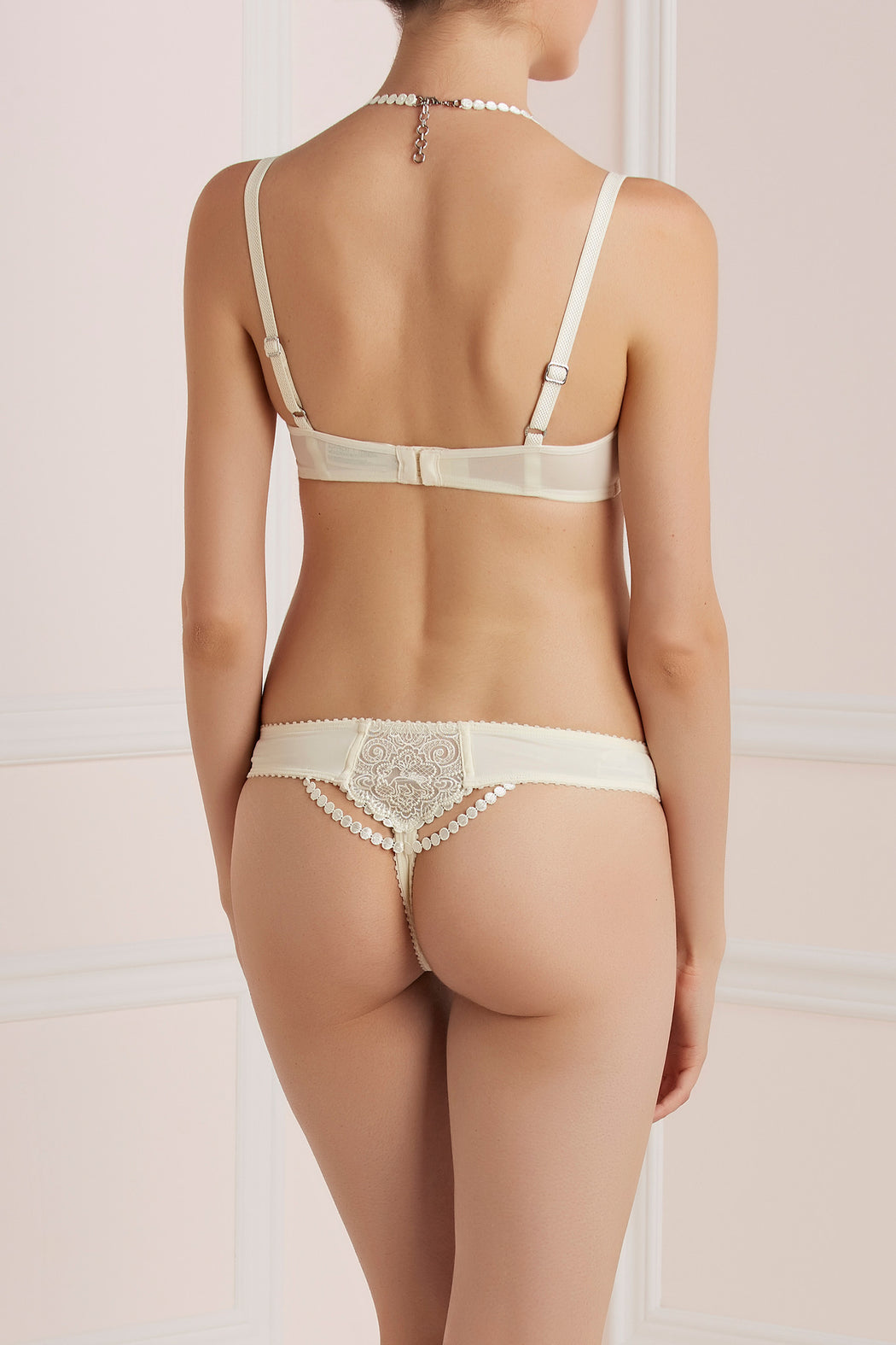 Mauritshuis white marble thong by Marlies Dekkers workingirls lingerie