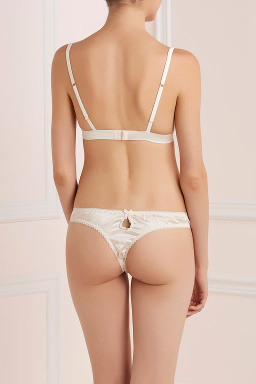 Mr Whippy white silk and lace thong by Mimi Holliday workingirls lingerie