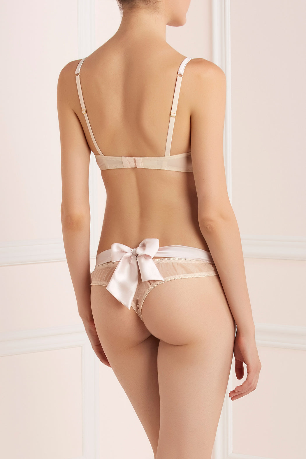 Sugar Pie silk and lace bow thong by Mimi Holliday workingirls lingerie