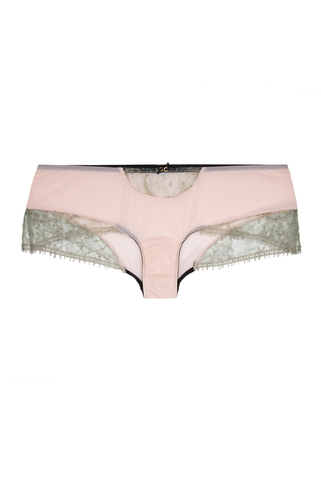 Pink and lace Isadora Boyshort by Lost in Wonderland workingirls lingerie
