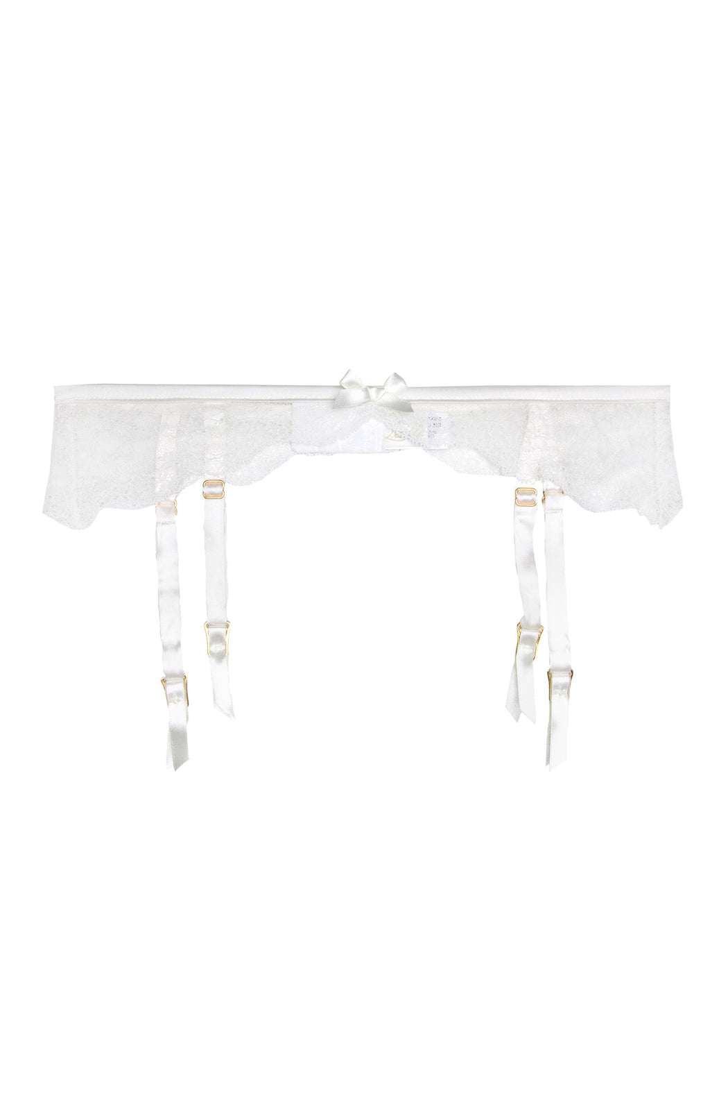 Ivory lace suspender belt by Lucile workingirls lingerie