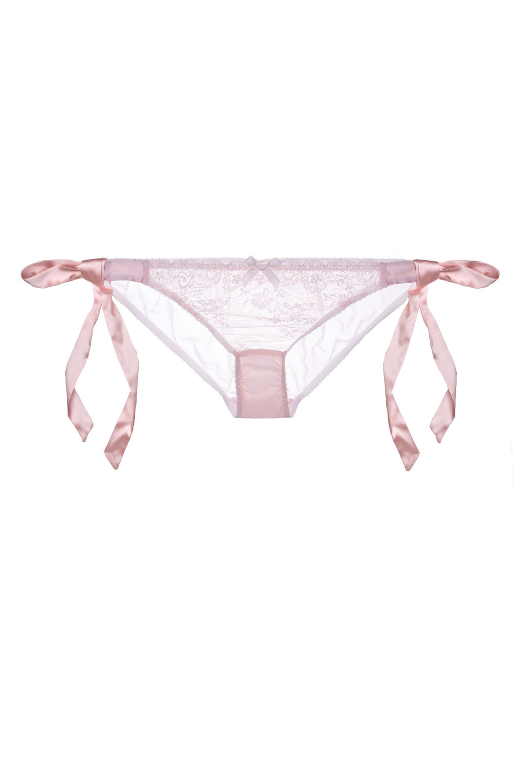 Silk and Lace Tea Rose tie side knicker by Lucile workingirls lingerie