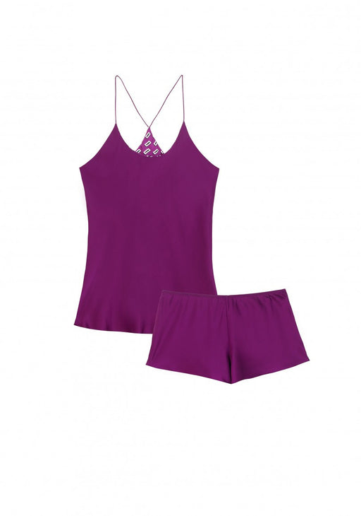 Bella Mulberry Camisole Set by Olivia Von Halle