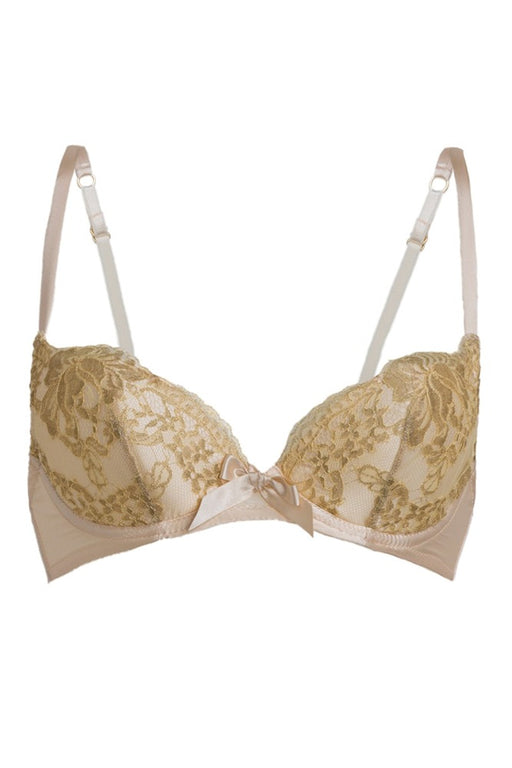 Lucile 11 rue de Penthievre silk bra Workingirls luxury Gold bridal lingerie