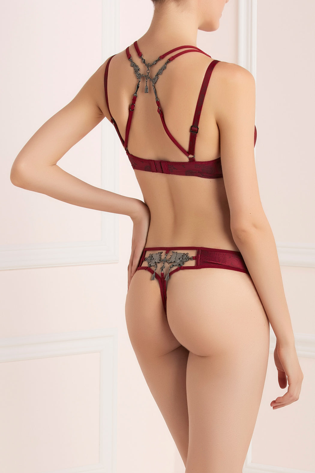 Johan red blood balcony bra by Marlies Dekkers workingirls lingerie