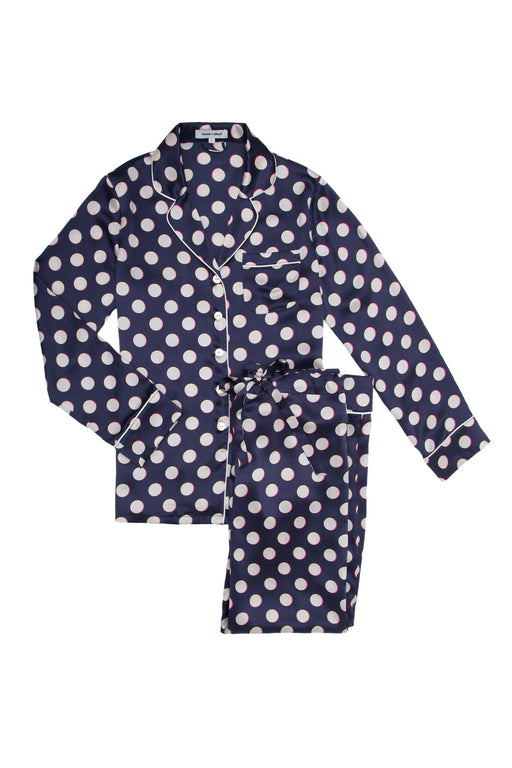 Lila Tokomo pyjama by Olivia Von Halle navy silk satin workingirls lingerie