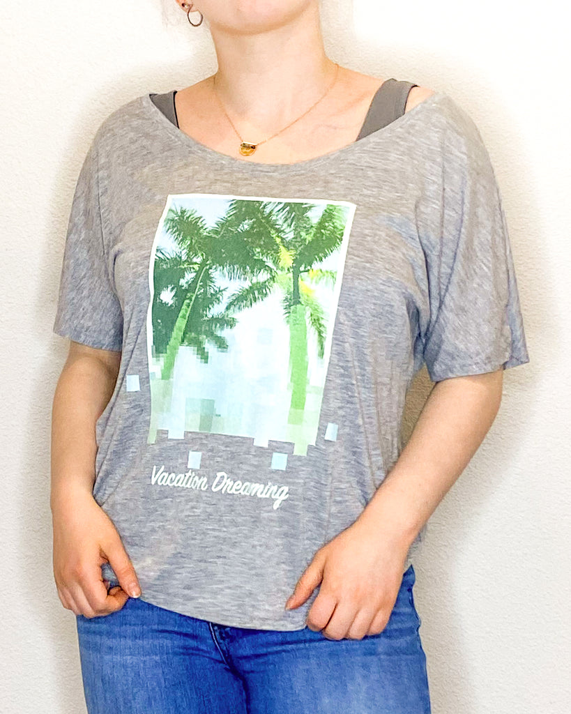 Slouchy Palm Tree Tee