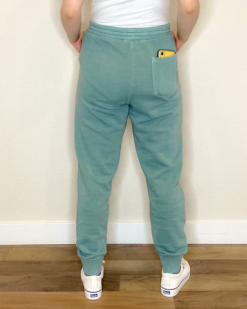 Ellemichelle Embroidered Joggers in Mint